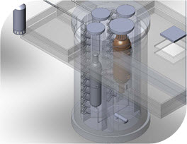 Graphic Rendering of Framatome High Temperature Gas-cooled Reactor (HTGR)